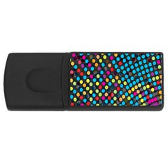 Polkadot Rainbow Colorful Polka Circle Line Light Usb Flash Drive Rectangular (4 Gb) by Mariart