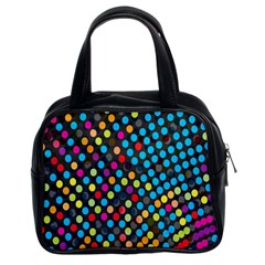 Polkadot Rainbow Colorful Polka Circle Line Light Classic Handbags (2 Sides) by Mariart
