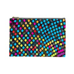 Polkadot Rainbow Colorful Polka Circle Line Light Cosmetic Bag (large)  by Mariart