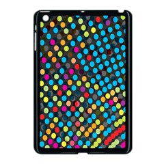 Polkadot Rainbow Colorful Polka Circle Line Light Apple Ipad Mini Case (black) by Mariart