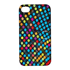 Polkadot Rainbow Colorful Polka Circle Line Light Apple Iphone 4/4s Hardshell Case With Stand by Mariart
