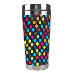 Polkadot Rainbow Colorful Polka Circle Line Light Stainless Steel Travel Tumblers by Mariart