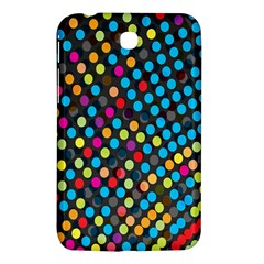 Polkadot Rainbow Colorful Polka Circle Line Light Samsung Galaxy Tab 3 (7 ) P3200 Hardshell Case  by Mariart