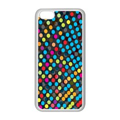 Polkadot Rainbow Colorful Polka Circle Line Light Apple Iphone 5c Seamless Case (white) by Mariart