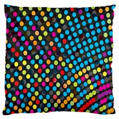 Polkadot Rainbow Colorful Polka Circle Line Light Standard Flano Cushion Case (one Side) by Mariart