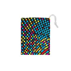 Polkadot Rainbow Colorful Polka Circle Line Light Drawstring Pouches (xs)  by Mariart