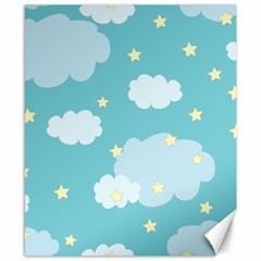 Stellar Cloud Blue Sky Star Canvas 8  X 10  by Mariart