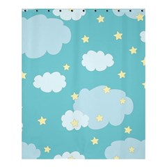 Stellar Cloud Blue Sky Star Shower Curtain 60  X 72  (medium)  by Mariart