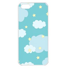 Stellar Cloud Blue Sky Star Apple Iphone 5 Seamless Case (white) by Mariart