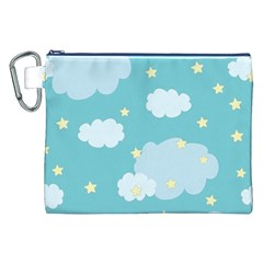Stellar Cloud Blue Sky Star Canvas Cosmetic Bag (xxl) by Mariart