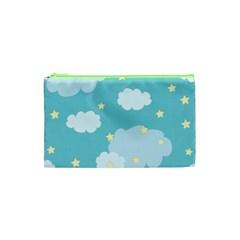 Stellar Cloud Blue Sky Star Cosmetic Bag (xs) by Mariart