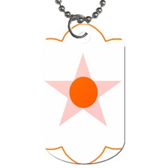Test Flower Star Circle Orange Dog Tag (two Sides) by Mariart
