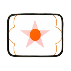 Test Flower Star Circle Orange Netbook Case (small)  by Mariart