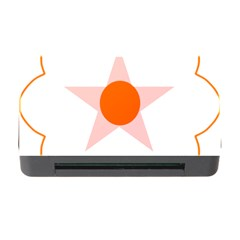 Test Flower Star Circle Orange Memory Card Reader With Cf by Mariart