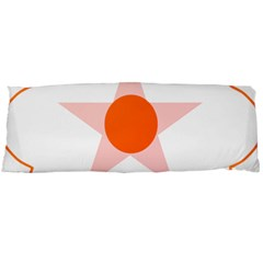 Test Flower Star Circle Orange Body Pillow Case Dakimakura (two Sides) by Mariart