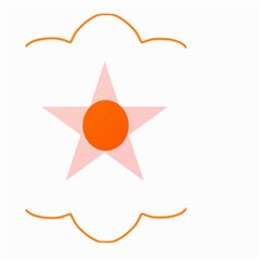 Test Flower Star Circle Orange Large Garden Flag (two Sides) by Mariart