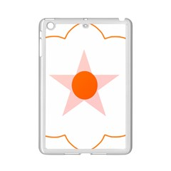 Test Flower Star Circle Orange Ipad Mini 2 Enamel Coated Cases by Mariart