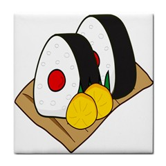 Sushi Food Japans Tile Coasters by Mariart