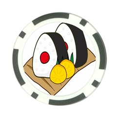 Sushi Food Japans Poker Chip Card Guard by Mariart
