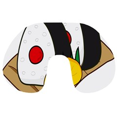 Sushi Food Japans Travel Neck Pillows by Mariart