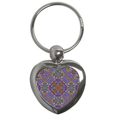 Oriental Pattern 01a Key Chains (heart)  by MoreColorsinLife