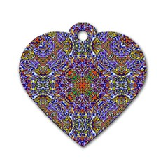Oriental Pattern 01a Dog Tag Heart (one Side) by MoreColorsinLife