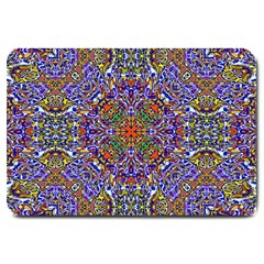 Oriental Pattern 01a Large Doormat  by MoreColorsinLife
