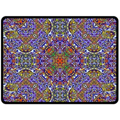 Oriental Pattern 01a Double Sided Fleece Blanket (large)  by MoreColorsinLife