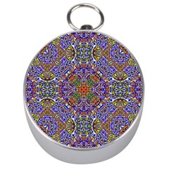 Oriental Pattern 01a Silver Compasses by MoreColorsinLife