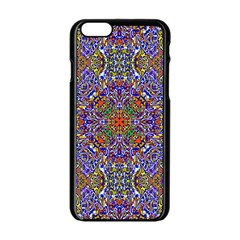 Oriental Pattern 01a Apple Iphone 6/6s Black Enamel Case by MoreColorsinLife