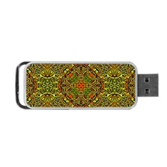 Oriental Pattern 01b Portable Usb Flash (one Side) by MoreColorsinLife