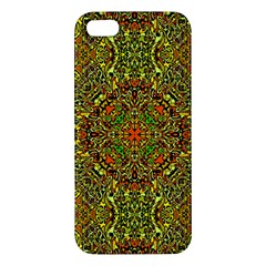 Oriental Pattern 01b Apple Iphone 5 Premium Hardshell Case by MoreColorsinLife