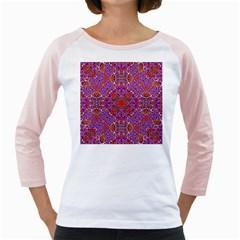 Oriental Pattern 01c Girly Raglans by MoreColorsinLife