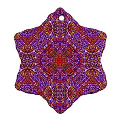 Oriental Pattern 01c Snowflake Ornament (two Sides) by MoreColorsinLife