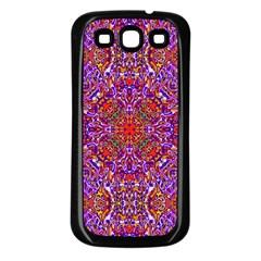 Oriental Pattern 01c Samsung Galaxy S3 Back Case (black) by MoreColorsinLife