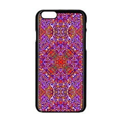 Oriental Pattern 01c Apple Iphone 6/6s Black Enamel Case by MoreColorsinLife