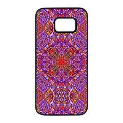 Oriental Pattern 01c Samsung Galaxy S7 Edge Black Seamless Case by MoreColorsinLife
