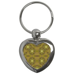 Oriental Pattern 02a Key Chains (heart)  by MoreColorsinLife