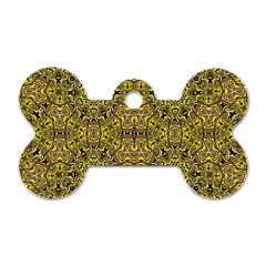 Oriental Pattern 02a Dog Tag Bone (one Side) by MoreColorsinLife
