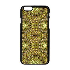 Oriental Pattern 02a Apple Iphone 6/6s Black Enamel Case by MoreColorsinLife