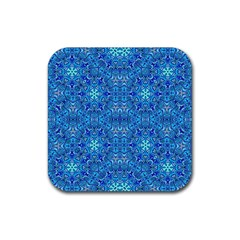 Oriental Pattern 02b Rubber Coaster (square)  by MoreColorsinLife