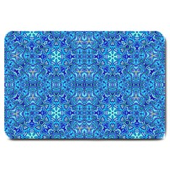 Oriental Pattern 02b Large Doormat  by MoreColorsinLife