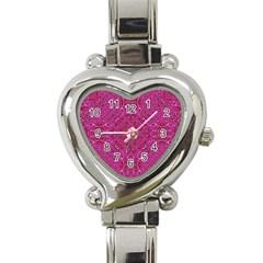 Oriental Pattern 02c Heart Italian Charm Watch by MoreColorsinLife