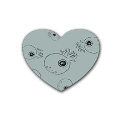 Tiny Octopus Rubber Coaster (heart)  by Mariart