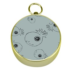 Tiny Octopus Gold Compasses by Mariart