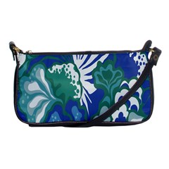 Tropics Leaf Bluegreen Shoulder Clutch Bags by Mariart