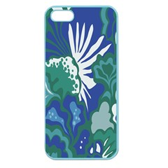 Tropics Leaf Bluegreen Apple Seamless Iphone 5 Case (color) by Mariart