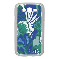 Tropics Leaf Bluegreen Samsung Galaxy Grand Duos I9082 Case (white)