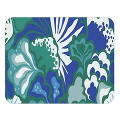 Tropics Leaf Bluegreen Double Sided Flano Blanket (large)  by Mariart