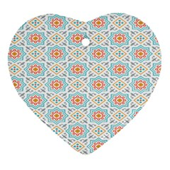Star Sign Plaid Ornament (heart) by Mariart